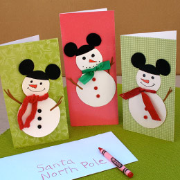 Mickey Mouse Christmas Cards
