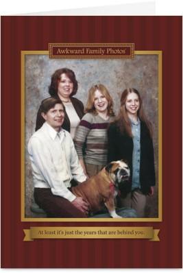 Awkward Family Photo Card Dog
