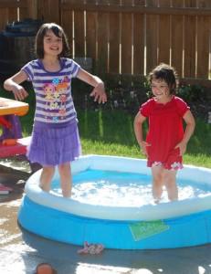 backyard summer pool