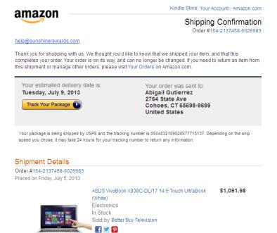 Amazon Fake Emails