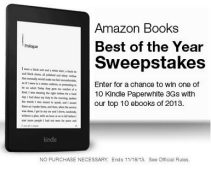 Amazon Books Best of the Year Sweepstakes