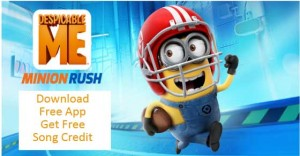 Free Despicable Me Game and Song Credit