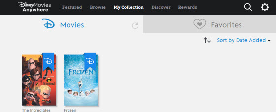 Disney Movies Anywhere Collection