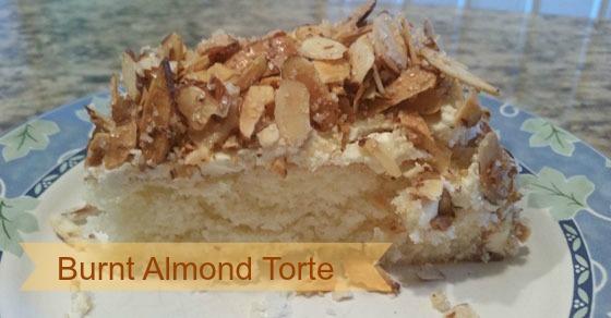 Burnt Almond Torte for Prantl's Bakery