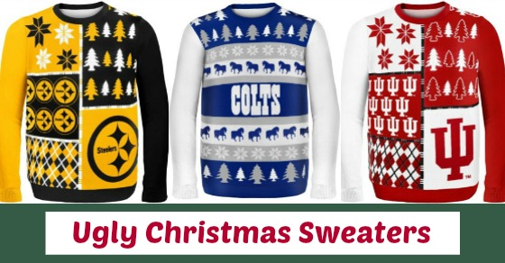 Ugly Christmas Sweaters for Sports Teams