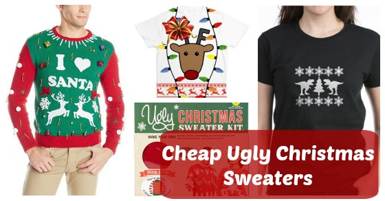 Finding Cheap Ugly Christmas Sweaters