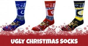 Ugly Christmas Socks for Sports Teams