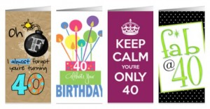 Birthday Cards for 40th Birthdays (And Other Ages!)